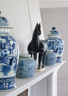 Just love blue and white china. www.birgittaorne.com