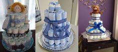 Veja uma seleção de 15 modelos de bolos de fralda na cor azul incríveis. E várias ideias para organizar seu chá de bebê!