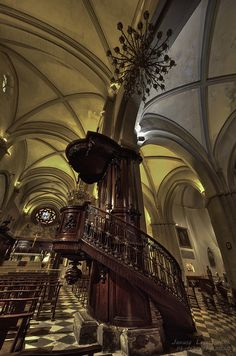 Toulon Cathedral Pulpit, France