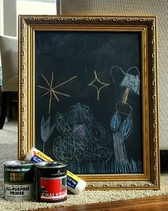 I've seen this done also with large gilded frames, great, janell beals, isabella and max