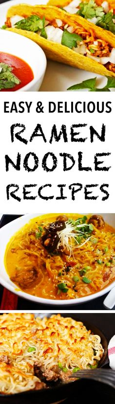 9 Amazing and Delicious Ramen Noodle Recipes - use instant and inexpensive noodles for these ingenious, yet simple, recipes.