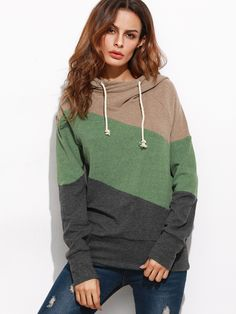 Shop Color Block Raglan Sleeve Hooded Sweatshirt online. SheIn offers Color Block Raglan Sleeve Hooded Sweatshirt & more to fit your fashionable needs.