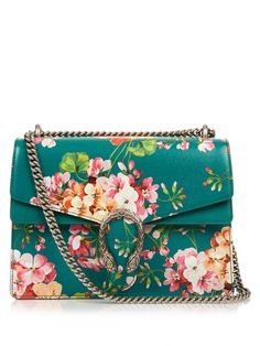 Dionysus Blooms-print medium leather bag | Gucci | MATCHESFASHION.COM