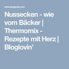 Nussecken - wie vom Bäcker   Thermomix - Rezepte mit Herz   Bloglovin'