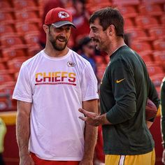 Quarterbacks of NFL's class of 2005. Chiefs' Alex Smith & Packers' Aaron Rodgers.