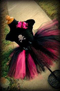 Rocker Star Outfit in Black and Hot Pink. $69.99, via Etsy.