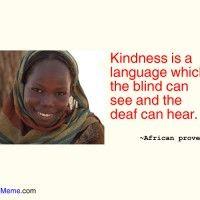 Kindness..
