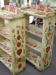 Image result for bauernmalerei round table chairs