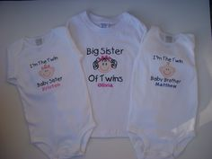 Free+Shipping+Custom+Big+Sister+of+Twins+Set+Short+by+lisamcgrath,+$69.00