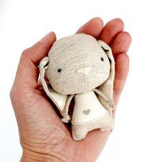Lupíneček, králičí miminko / Zboží prodejce Leebee | Fler.cz Sock Dolls, Felt Dolls, Doll Toys, Fabric Animals, Sock Animals, Tilda Toy, Fabric Toys, Handmade Stuffed Animals, Doll Tutorial
