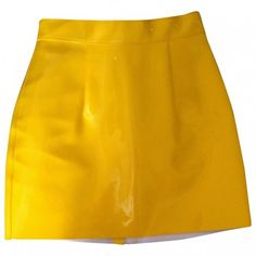 Yellow Polyester Skirt AMERICAN APPAREL ($42) ❤ liked on Polyvore featuring skirts, bottoms, american apparel, yellow skirt, summer skirts and american apparel skirt