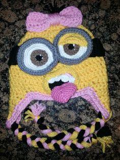 Crochet Minion Beanie!
