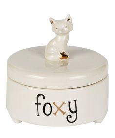 Look at this Animal Kingdom Foxy Trinket Box on #zulily today!