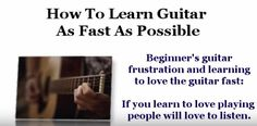 How to Learn Guitar Fast - Beginner's frustration & online guitar lessons - YouTube