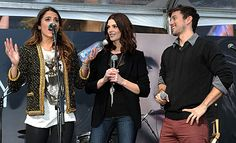 """Cast members Nikki Reed, Jackson Rathbone and Ashley Greene put in an appearance at the """"Breaking Dawn"""" fan encampment Saturday."""