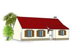 Modèle PC-08   Pavillon plain-pied comprenant cuisine, séjour, hall, salle de bains, WC, 3 chambres.  Surface Habitable : 75,51m²