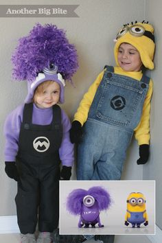 Another Big Bite - Despicable Me Minion and Purple Minion Costume