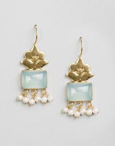 Buy Fabindia Silver Ananya ES 1677 Dangle Earrings-Red Online- Fabindia.com