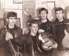 George Harrison, Pete Best, Paul McCartney, and John Lennon