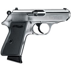 Walther PPK/S Pistol -Often imitated but never duplicated. The elegant lines of the legendary WALTHER PPK have caught the imagination of the entire world for over 75 years. 22 Caliber Pistol, 22 Pistol, Rifles, Custom Glock, Custom Guns, American Flag Photos, Best Handguns, Long Rifle, Shooting Gear