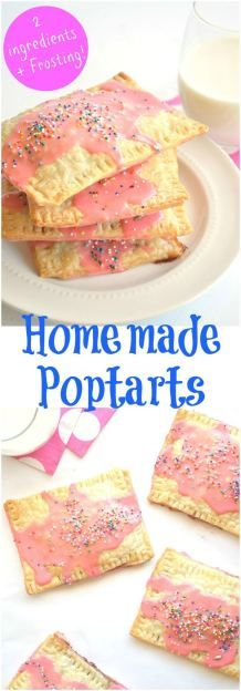 Homemade Strawberry Poptarts, these quick and easy breakfast pastries can be ready in 20 minutes and are a huge hit with the family!