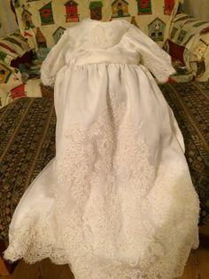 Baby's Christening made Grandma's wedding dress