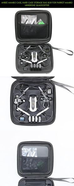 Anbee Mambo Case, Hard Case Storage Bag Box for Parrot Mambo Minidrone Quadcopter #parrot #technology #camera #products #parts #fpv #mambo #drone #racing #battery #shopping #plans #kit #tech #gadgets