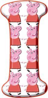 Alfabeto de Peppa Pig en Rojo