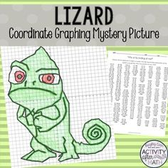 Lizard Coordinate Graphing Mystery Picture! by Hayley Cain - Activity After Math | Teachers Pay Teachers