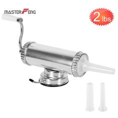 / Sausage Stuffer With Suction Base Homemade Sausage Filler Sausage Syringe Aluminum Manual Sausage Maker Chutney, Sausage Filler, Shops, How To Make Sausage, Aluminium, Homemade, Ebay