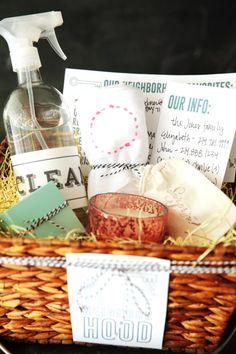 Wow. Handmade Mood | New Neighbor Gift Basket | http://handmademood.com
