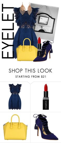 """Peek-A-Book: Eyelets"" by blackadonia ❤ liked on Polyvore featuring Smashbox, Givenchy, Schutz, Bold Elements and eyelet"
