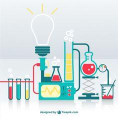 Great simplicity in the design (Laboratório de ciências vetor Vetor grátis)