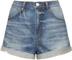 TOPSHOP MOTO Rosa Denim Hotpants