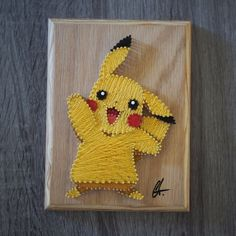 Hey, I found this really awesome Etsy listing at https://www.etsy.com/listing/457673616/handmade-6-x-8-pokemon-pikachu-string
