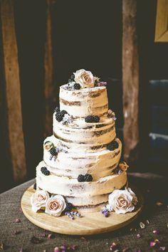 Rustic Bohemian DIY Barn Wedding - deliciously beautiful use of blackberries Boho Wedding Cake, Barn Wedding Cakes, Rustic Wedding Foods, Wedding Cake Prices, Wedding Gifts For Groom, Wedding Cake Decorations, Cool Wedding Cakes, Wedding Cake Toppers, Wedding Venues