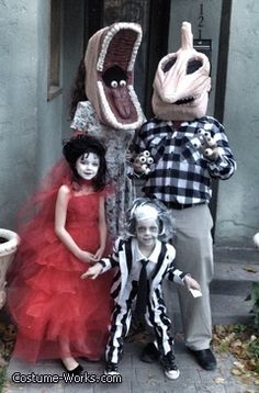 Beetlejuice Family DIY Halloween costumes