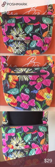 🆕VERA BRADLEY NEW ROOMY CROSSBODY 💯AUTHENTIC VERA BRADLEY ROOMY LIKE NEW CROSSBODY BAG 100% AUTHENTIC. PURCHASED AND NEVER USED LIKE NEW! THIS LOVELY BAG HAS A LARGE FRONT LATCH POCKET AND A LARGE REAR OUTSIDE ZIP POCKET! INSIDE THE MAIN COMPARTMENT ARE TWO MORE GREAT WALL POCKETS. THE MAIN COMPARTMENT HAS A ZIP TOP. THE BAG HAS A LONG ADJUSTABLE CROSSBODY STRAP. THE BAG MEASURES 10.25 INCHES WIDE BY 10 INCHES TALL Vera Bradley Bags Crossbody Bags