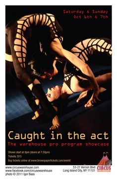 Caught in the Act 14 poster by Brad Miskell featuring the Venizelos Sisters.