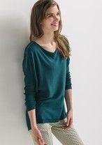 Jersey fino oversize Verde esmeralda