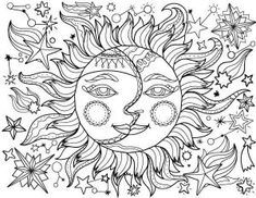 Coloring Pages For Teenage Printable Free Coloring Sheets Witch Coloring Pages Moon Coloring Pages Sun Coloring Pages