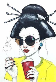 Harumi Hironaka es una artista, pintora e ilustradora de origen japonés, nacida en Perú y que actualmente reside en Brasil. Aunque en un principio era inté67