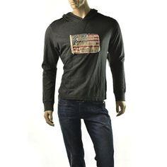 Mens Hoodie Shirt Ralph Lauren Denim \u0026 Supply Flag Hooded Tee Pullover NWT  Sz S #