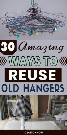 Tin Can Crafts, Diy Crafts, Reuse, Diy Recycle, Giant Bubble Wands, Hanger Crafts, Plastic Bag Holders, Book Holders, Wooden Hangers