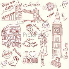 """Различные рисунки на тему """"Лондон"""""""