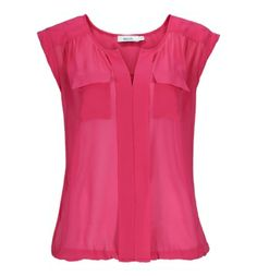 Sheer Utility Bubble Blouse in Pink, Navy, Ivory, Black, or Ivory Print . Sizes XS to XXL .  Available in store or online at www.rickis.com #rickis #spring2014 Cute Tops, Purple, Pink, Bubbles, Cute Outfits, Fashion Outfits, Blouse, My Style, Ivory