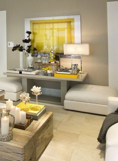Living Room Decoration and Design Ideas - Ribbons & Stars Home Living Room, Living Room Designs, Living Room Decor, Living Spaces, Deco Table, Home And Deco, Mellow Yellow, Home Decor Inspiration, Decor Ideas