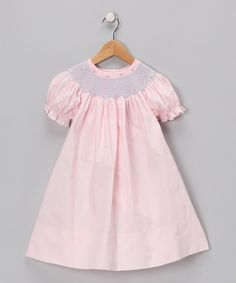 Take a look at this Pink Carla Bishop Dress - Infant, Toddler & Girls on zulily today!