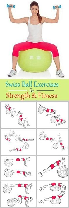 8 Swiss Ball Exercises for Strength and Fitness..