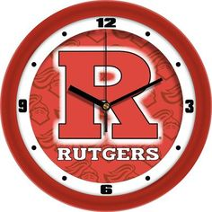 NCAA Rutgers Scarlet Knights Dimension Wall Clock
